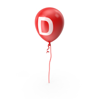 Letter D Balloon PNG & PSD Images
