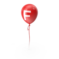 Letter F Balloon PNG & PSD Images