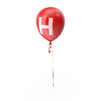 Letter H Balloon PNG & PSD Images