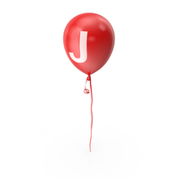Letter J Balloon PNG & PSD Images