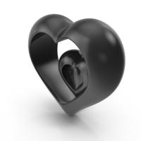 Heart V5 Black PNG & PSD Images