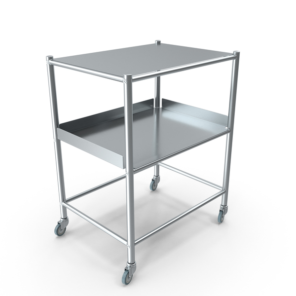 Stainless Medical Trolley PNG & PSD Images