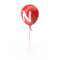 Letter N Balloon PNG & PSD Images