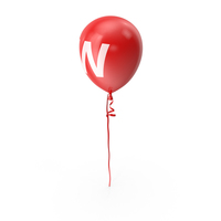 Letter W Balloon PNG & PSD Images