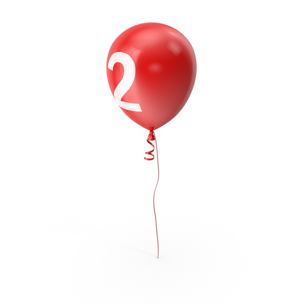Number 2 Balloon PNG & PSD Images