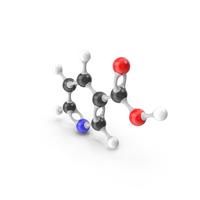 Niacin (Vitamin B3) Molecular Model PNG & PSD Images