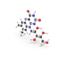 Riboflavin (Vitamin B2) Molecular Model PNG & PSD Images