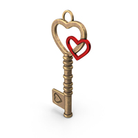 Heart key PNG & PSD Images