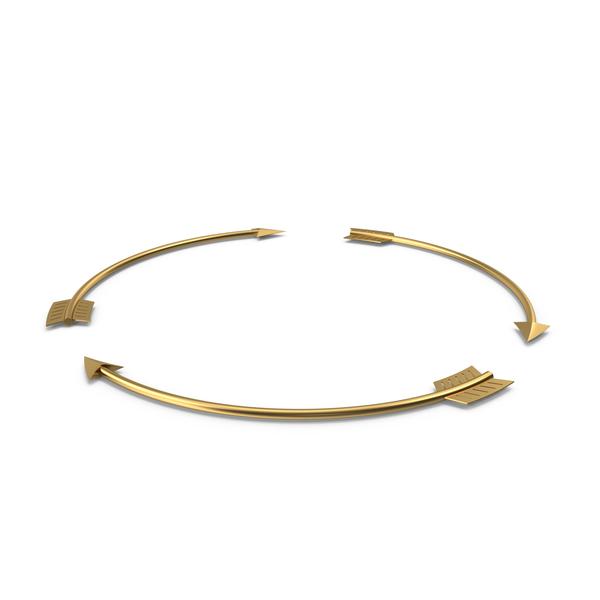Golden Arrow Circle PNG & PSD Images