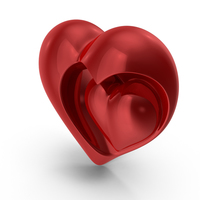 Hearts Sculpture PNG & PSD Images