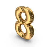 Foil Balloon Number 8 PNG & PSD Images