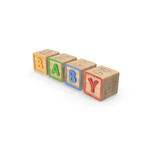 Alphabet Blocks Baby PNG & PSD Images