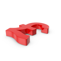 Pound Sign Red Side PNG & PSD Images