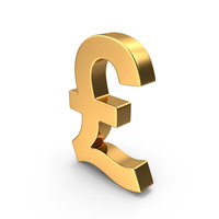 Pound Sign Gold PNG & PSD Images