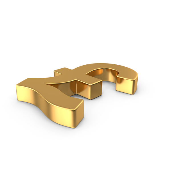 Pound Sign Gold Side PNG & PSD Images