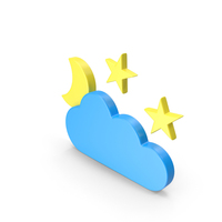 Meteorology Symbol Partly Cloudy Night PNG & PSD Images