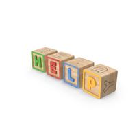 Help Alphabet Blocks PNG & PSD Images