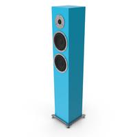 Cyan Floor Speaker PNG & PSD Images