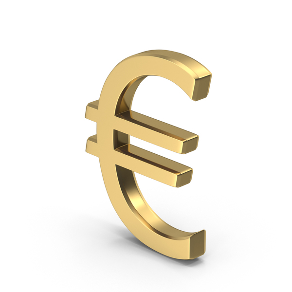 Golden Euro Sign PNG & PSD Images