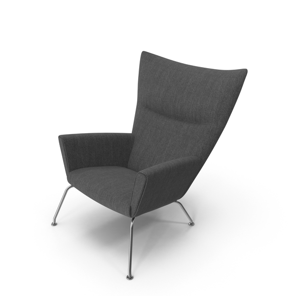 Dark Gray Wingback Chair PNG & PSD Images