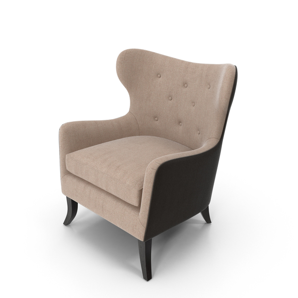 Simon Pebble Wingback Chair PNG & PSD Images
