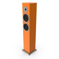 Orange Floor Speaker PNG & PSD Images