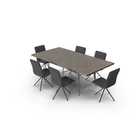 Dining Table Roman Iron Base And Chair Whirl PNG & PSD Images
