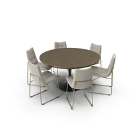Dining Table Powell Tulip And Chair Alice PNG & PSD Images