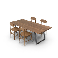 Dining Table Yukon And Chair Vernon PNG & PSD Images