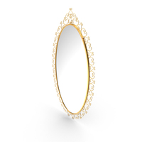 Golden Oval Mirror PNG & PSD Images