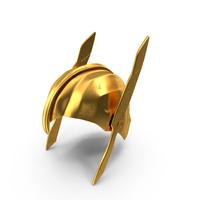 Golden Warrior Helmet PNG & PSD Images