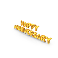 Happy Anniversary Balloons PNG & PSD Images