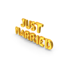Just Married Balloons PNG & PSD Images