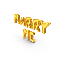 Marry Me Balloons PNG & PSD Images