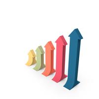 Arrow Bar Graph PNG & PSD Images