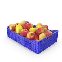 Apples Plastic Crate PNG & PSD Images