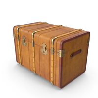 High Curved Steamer Trunk PNG & PSD Images
