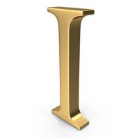 Gold Letter I PNG & PSD Images