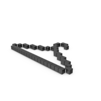 Pixelated Hanger Icon PNG & PSD Images