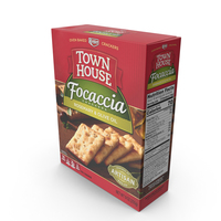 Town House Rosemary and Olive Oil Focaccia Crackers PNG & PSD Images