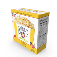 SkinnyPop Butter Microwave Popcorn PNG & PSD Images