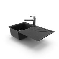 Smeg Mixer Faucet and Sink PNG & PSD Images