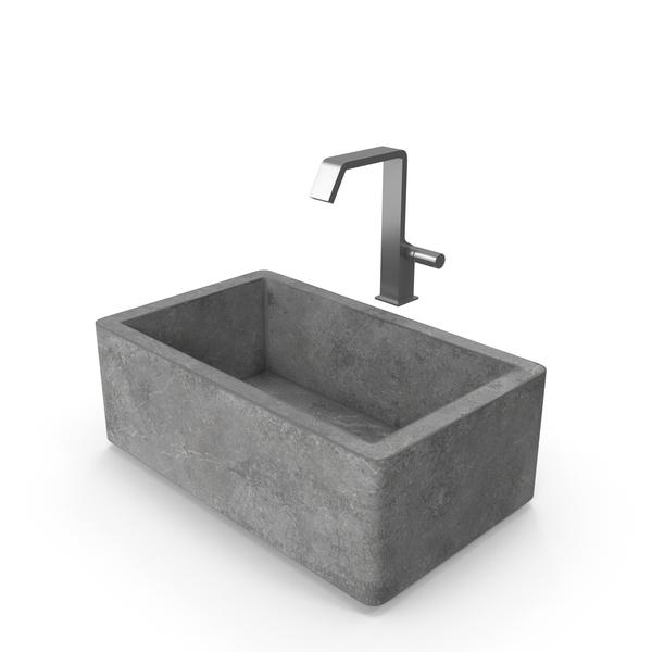 Sink Farmhouse Mixer Quadrodesign PNG & PSD Images