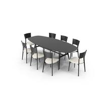 Misuraemme Gaudi Dining Table Set PNG & PSD Images