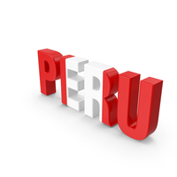 Peru Text PNG & PSD Images