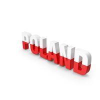 Poland Text PNG & PSD Images