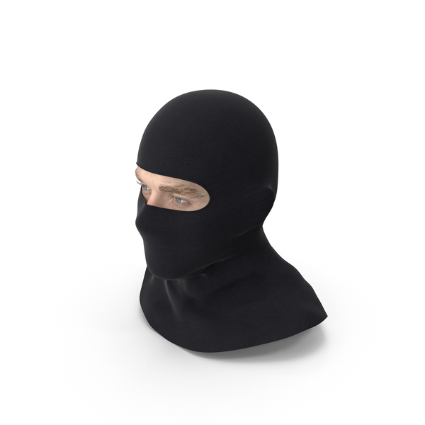 Male Head Wearing Balaclava PNG & PSD Images