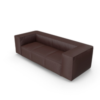 Brown Leather Sofa PNG & PSD Images