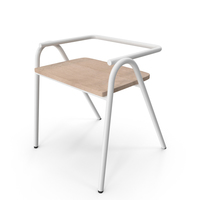 Dowel Jones Half Hurdle Chair White PNG & PSD Images