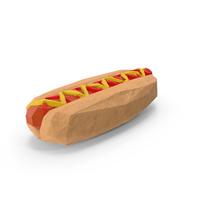 Low Poly Hotdog PNG & PSD Images